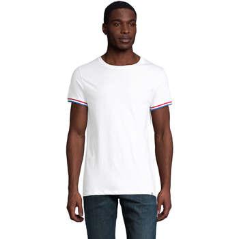 tekstylia Męskie T-shirty z krótkim rękawem Sols CAMISETA MANGA CORTA RAINBOW Blanco