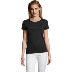 tekstylia Damskie T-shirty z krótkim rękawem Sols CAMISETA MANGA CORTA RAINBOW Negro