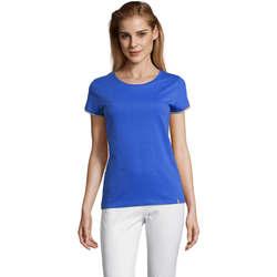 tekstylia Damskie T-shirty z krótkim rękawem Sols CAMISETA MANGA CORTA RAINBOW Azul