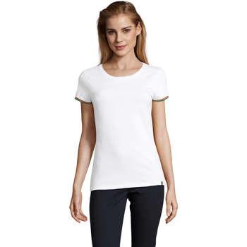 tekstylia Damskie T-shirty z krótkim rękawem Sols CAMISETA MANGA CORTA RAINBOW Blanco