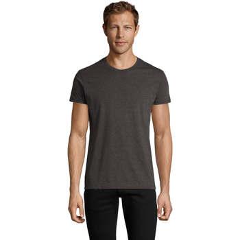 tekstylia Męskie T-shirty z krótkim rękawem Sols REGENT FIT CAMISETA MANGA CORTA Gris