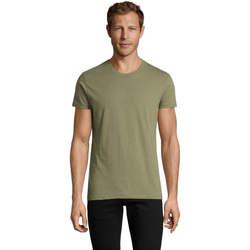 tekstylia Męskie T-shirty z krótkim rękawem Sols REGENT FIT CAMISETA MANGA CORTA Kaki