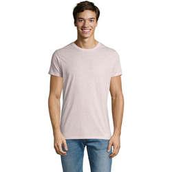 tekstylia Męskie T-shirty z krótkim rękawem Sols REGENT FIT CAMISETA MANGA CORTA Rosa