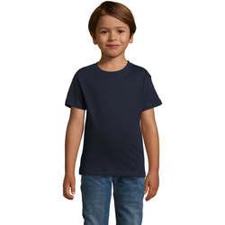 tekstylia Chłopiec T-shirty z krótkim rękawem Sols REGENT FIT CAMISETA MANGA CORTA Azul