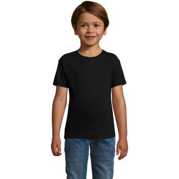tekstylia Chłopiec T-shirty z krótkim rękawem Sols REGENT FIT CAMISETA MANGA CORTA Negro