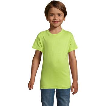 tekstylia Chłopiec T-shirty z krótkim rękawem Sols REGENT FIT CAMISETA MANGA CORTA Verde