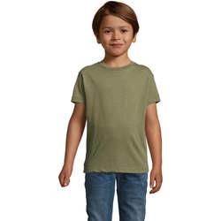 tekstylia Dziecko T-shirty z krótkim rękawem Sols REGENT FIT CAMISETA MANGA CORTA Kaki