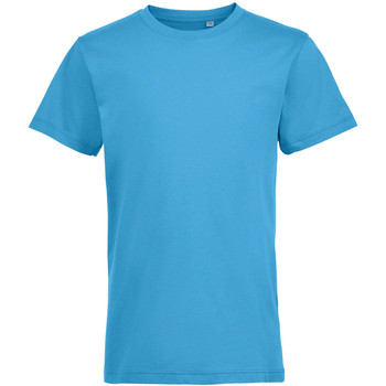 tekstylia Dziecko T-shirty z krótkim rękawem Sols REGENT FIT CAMISETA MANGA CORTA Azul