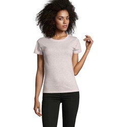 tekstylia Damskie T-shirty z krótkim rękawem Sols REGENT FIT CAMISETA MANGA CORTA Rosa