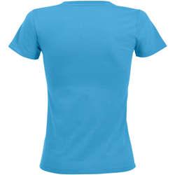 tekstylia Damskie T-shirty z krótkim rękawem Sols REGENT FIT CAMISETA MANGA CORTA Azul