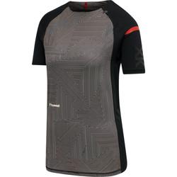 tekstylia Damskie T-shirty z krótkim rękawem Hummel Maillot d'échauffement femme  hmlPRO XK noir/rose clair