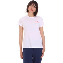 tekstylia Damskie T-shirty z krótkim rękawem Diadora 102175882 Biały