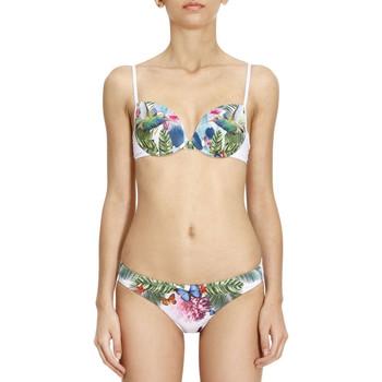 tekstylia Damskie Kostium kąpielowy dwuczęściowy Ea7 Emporio Armani 911026 7P406 Biały