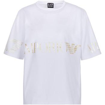 tekstylia Damskie T-shirty z krótkim rękawem Ea7 Emporio Armani 3KTT18 TJ29Z Biały