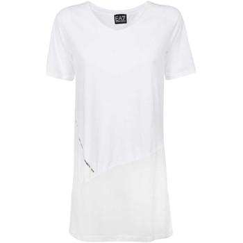 tekstylia Damskie T-shirty z krótkim rękawem Ea7 Emporio Armani 3KTT36 TJ4PZ Biały