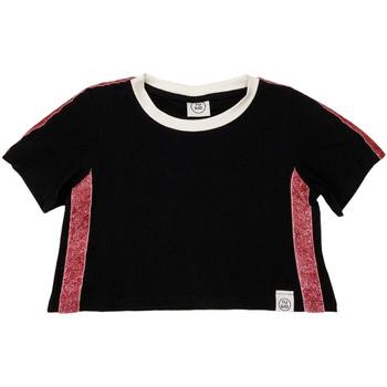 tekstylia Dziecko T-shirty z krótkim rękawem Naturino 6000719 01 Czarny