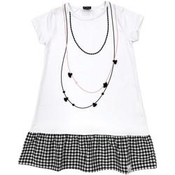 tekstylia Dziewczynka Sukienki krótkie Naturino 6000724 01 Biały