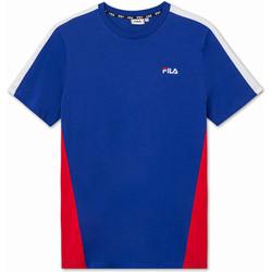 tekstylia Dziecko T-shirty z krótkim rękawem Fila 688749 Niebieski