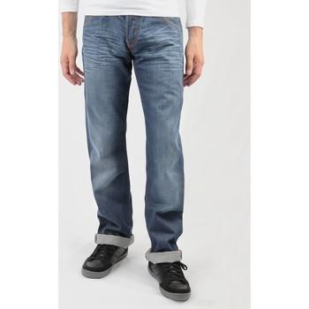 tekstylia Męskie Jeansy straight leg Lee Flint L702RNSM niebieski