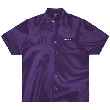 tekstylia Męskie Koszule z krótkim rękawem Jacker Purple potion Fioletowy