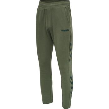 tekstylia Męskie Spodnie dresowe Hummel Jogging  hmlLegacy Tapered vert/noir