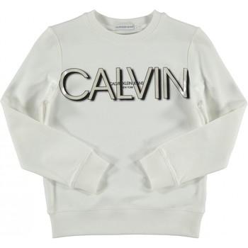 tekstylia Dziewczynka Bluzy Calvin Klein Jeans IG0IG01006 Biały