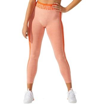 tekstylia Damskie Legginsy Asics W Cropped Logo Seamless Tight Pomarańczowy