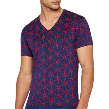 tekstylia Męskie T-shirty z krótkim rękawem I Am What I Wear 1300J87 K72 Niebieski