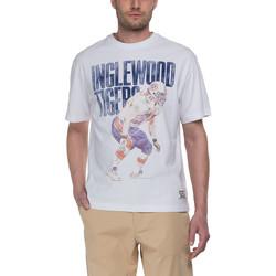 tekstylia Męskie T-shirty z krótkim rękawem Franklin & Marshall T-shirt Franklin & Marshall Classique blanc