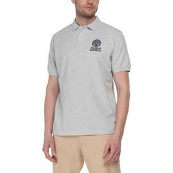 tekstylia Męskie Koszulki polo z krótkim rękawem Franklin & Marshall Polo Franklin & Marshall Classique gris chiné