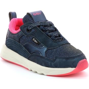 Buty Dziewczynka Trampki niskie Kickers Chaussures enfant  Kiwy CDT marine/rose/glitter