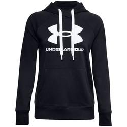 tekstylia Damskie Bluzy Under Armour Rival Fleece Logo Hoodie Czarny