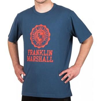 tekstylia Męskie T-shirty z krótkim rękawem Franklin & Marshall T-shirt Franklin & Marshall Classique bleu marine