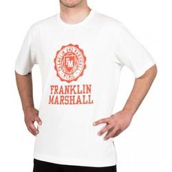 tekstylia Męskie T-shirty z krótkim rękawem Franklin & Marshall T-shirt Franklin & Marshall Classique blanc crème