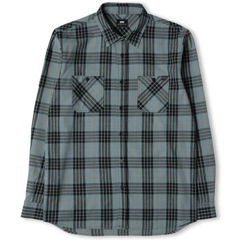 tekstylia Męskie Koszule z długim rękawem Edwin Chemise  Labour gris/noir