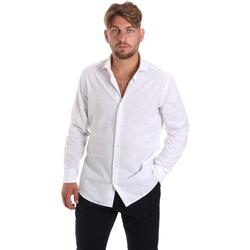 tekstylia Męskie Koszule z długim rękawem Les Copains 20P500 P3196SL Biały