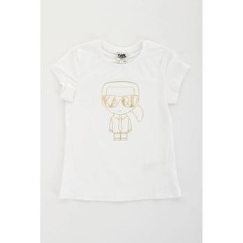 tekstylia Dziewczynka T-shirty z krótkim rękawem Karl Lagerfeld Kids 2007069 Biały
