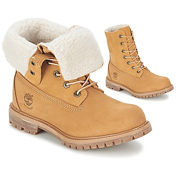 Buty Damskie Buty za kostkę Timberland AUTHENTICS TEDDY FLEECE WP FOLD DOWN Cognac / Clair