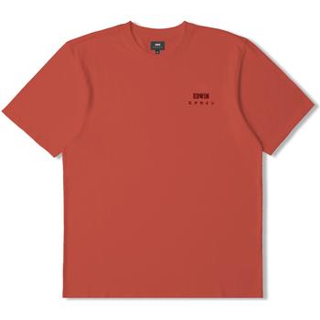 tekstylia T-shirty z krótkim rękawem Edwin T-shirt  logo rouge