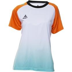 tekstylia Damskie T-shirty z krótkim rękawem Select T-shirt femme  Player Femina orange/blanc/vert