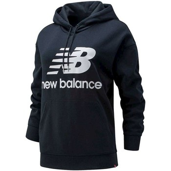 tekstylia Damskie Bluzy New Balance Essentials Stacked Logo Oversized Po Czarny