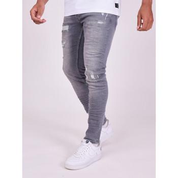 tekstylia Męskie Spodnie Project X Paris Pantalon Jeans Slim effet usé gris foncé