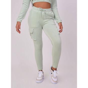 tekstylia Damskie Spodnie dresowe Project X Paris Jogging femme gris clair