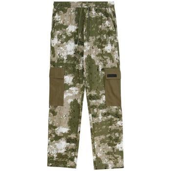 tekstylia Męskie Spodnie bojówki Sixth June Pantalon  Cargo Camouflage vert camouflage