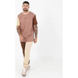 tekstylia Męskie T-shirty z krótkim rękawem Sixth June T-shirt  Tricolor Regular beige