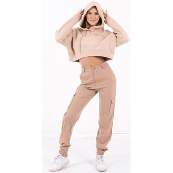 tekstylia Damskie Bluzy Sixth June Sweatshirt Crop Top femme  Acid Printed beige