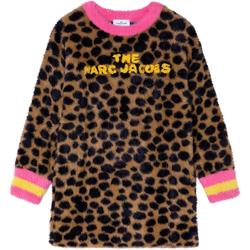 tekstylia Dziewczynka Płaszcze Marc Jacobs W12388 Brązowy