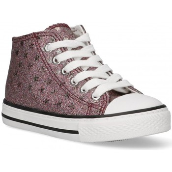 Buty Dziewczynka Trampki wysokie Bubble 58907 różowy