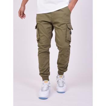 tekstylia Męskie Spodnie bojówki Project X Paris Jeans Style Cargo Projet X Paris khaki
