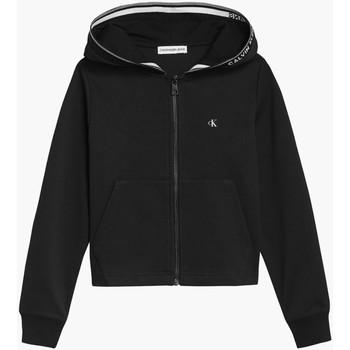 tekstylia Dziewczynka Bluzy Calvin Klein Jeans IG0IG01010 Czarny